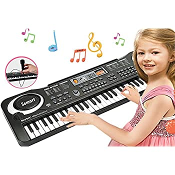 SEMART Piano Keyboard Music Piano Electric Keyboards for kids Musical Instrument USB multi-function w/Microphone Weighted keys Birthday Christmas Festival ...