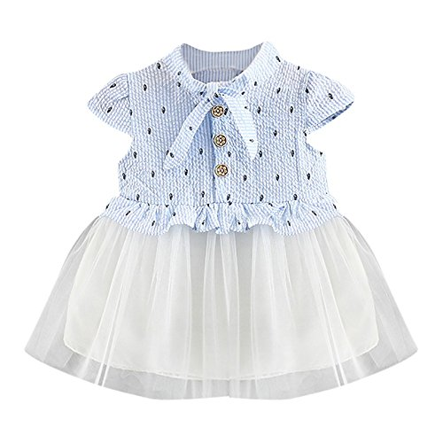 NEARTIME ❤️Baby Dress,Hot 2018 Cute Beautiful Baby Girls Infant Toddle Children 2Pcs Bow Striped Tops+Tutu Skirt ()