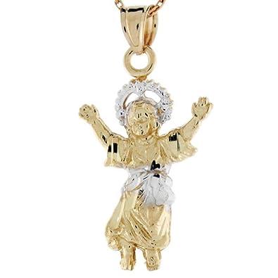 Amazon 10k yellow and white gold divino nino baby jesus pendant 10k yellow and white gold divino nino baby jesus pendant aloadofball Image collections