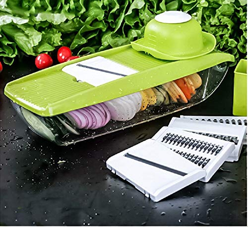 Mandoline Slicer 5 In 1 Multi-Purpose Fruit Vegetable Tools Slicer Manual Vegetable Cutter Stainless Steel Blade Kitchien Tool (15)