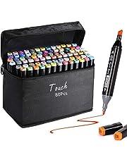 AVNTEN Zestaw markerów do tkanin w 80 kolorach (czarny, 80 kolorów)
