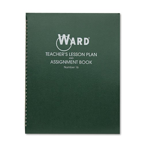 Ward Lesson Plan Book, Wirebound, 6 Class Periods/Day, 11 x 8-1/2, 100 Pages, Green