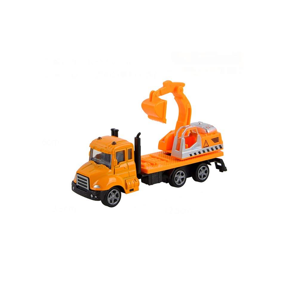 Camión niños juguetes de simulación tira de la aleación del coche modelo de simulación del excavador