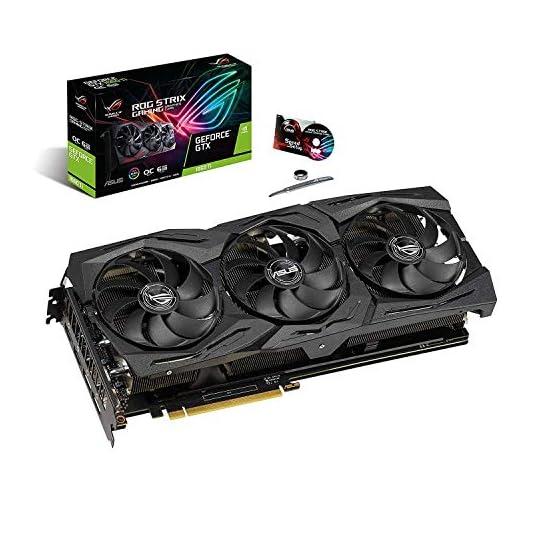 ASUS ROG Strix GeForce GTX 1660 Ti 6GB Overclocked Edition VR Ready HDMI 2.0 DP 1.4 Auto-Extreme Graphics card (STRIX… 51GJEmaKb9L. SS555