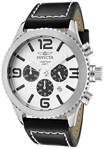 Invicta Men's 1426 II Collection Black Leather Chronograph Watch