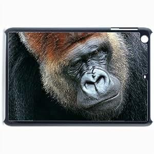 Customized Back Cover Case For iPad Mini 2 Hardshell Case, Black Back Cover Design Gorilla Personalized Unique Case For iPad Mini 2