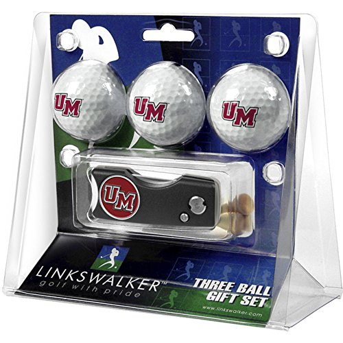 Massachusetts Amherst Minutemen UMass NCAA Spring Action 3 Golf Ball Gift Packs (Minutemen Golf)