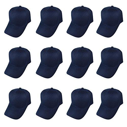 Plain Blank Baseball Caps Adjustable Back Strap WHOLESALE