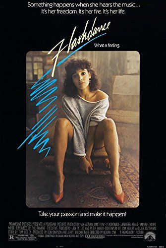 FLASHDANCE (1983) Primordial Authentic Movie Poster - 27x41 One Sheet - Single-Sided - FOLDED - Jennifer Beals - Michael Nouri - Lilia Skala - Kyle T Heffner