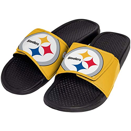 FOCO NFL Pittsburgh Steelers Unisex Big Logo Slide-Big Logo Slde, Pittsburgh Steelers, ()