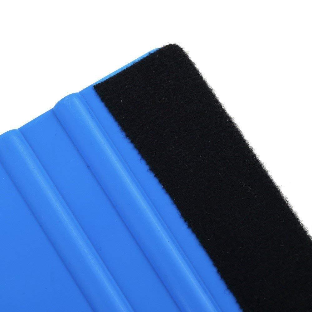Cinco unidades Paleta espatula carwraping para colocar vinilo con protector de fieltro