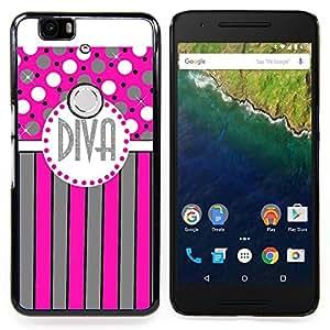 "Planetar ( Rojo lindo animal del arte hermoso brillante"" ) Huawei Google Nexus 6P Fundas Cover Cubre Hard Case Cover"
