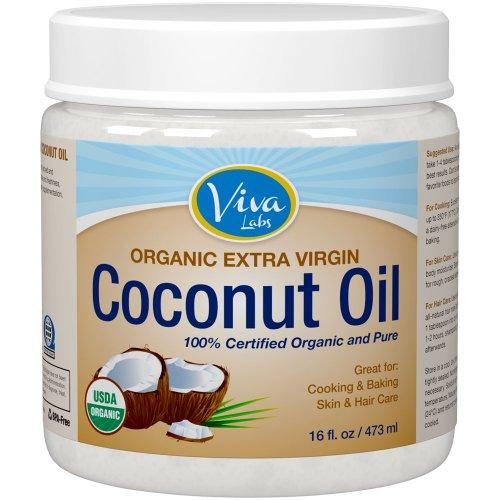 Viva Labs органическое оливковое кокосовое масло, 16 унций