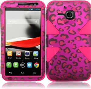 Viesrod - For Alcatel One Touch Evolve 5020T 5020 Cover Case (Dynamic Hot Pink Chrome Leopard/Hot Pink)