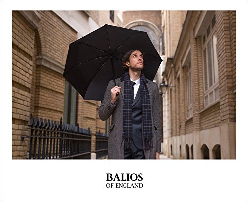 Balios Real Wood Handle Umbrella Windproof Fiberglass Steel Auto Open & Close Travel Folding with 300T Finest Fabric-Vented Double Canopy—Men's & Ladies by Balios (Image #5)