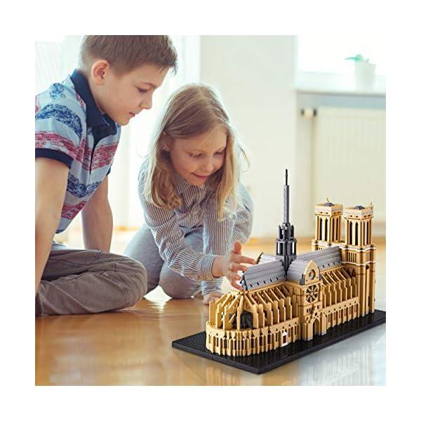 KLMEi Big Architecture Model Kits Notre Dame De Paris Micro Blocks 7380 Pieces Model Building Kit, Creative Building Set…