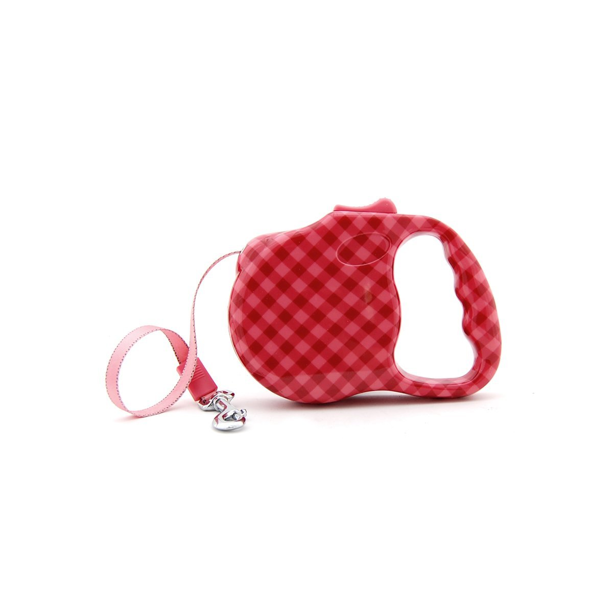 Bellus Retractable Dog Leash Print Great for Small Dogs up to 30 lbs. Red Pink