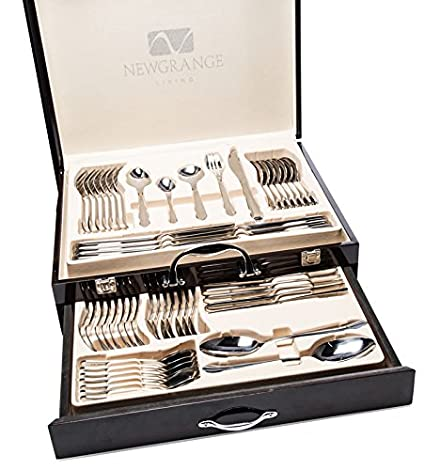 Newgrange Living Astra Stainless Steel Cutlery Set Silver Wooden