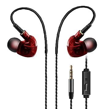 6SlonHy - Auriculares in-Ear Deportivos con Cable, micrófono de ...