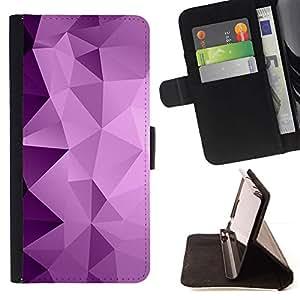 Polygon Purple Pattern Gradient - Modelo colorido cuero de la carpeta del tirón del caso cubierta piel Holster Funda protecció Para Apple iPhone 5C