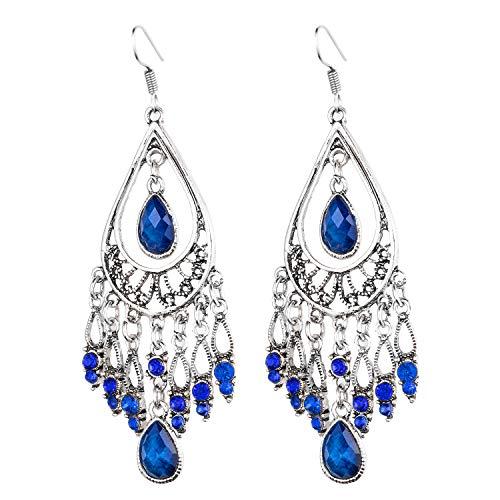 Fashion Chandelier Earrings For Women BoHo Dangle Indian Earrings EAG080 - Earrings Loop Red