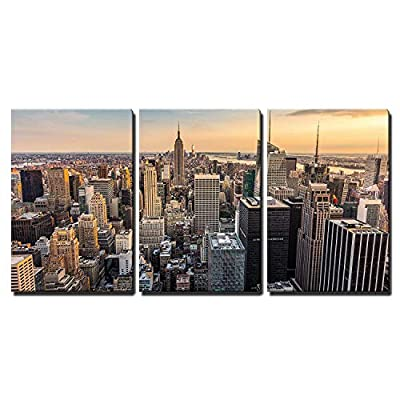 Created Just For You, Wonderful Design, New York City Midtown Skyline Wall Decor x3 Panels