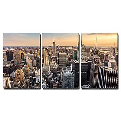 Lovely Expert Craftsmanship, Top Quality Design, New York City Midtown Skyline Wall Decor x3 Panels