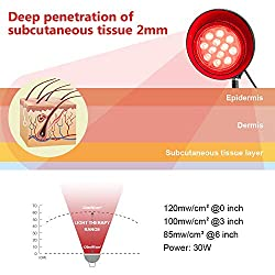 Deep Red Led Light Therapy Unit PAR38 for Skin and Pain Relief 660nm
