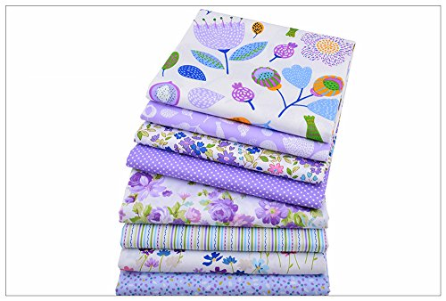 8pcs/lot, Twill Cotton Fabric Patchwork Floral Tissue Cloth Of Handmade DIY Quilting Sewing Baby&Children Sheets Dress (Gold Kona Bay)