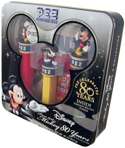 Vintage Pez Dispensers (PEZ COLLECTIBLES--Mickey 80 Years Collection with Vintage Mickey Poster by PEZ Candy)
