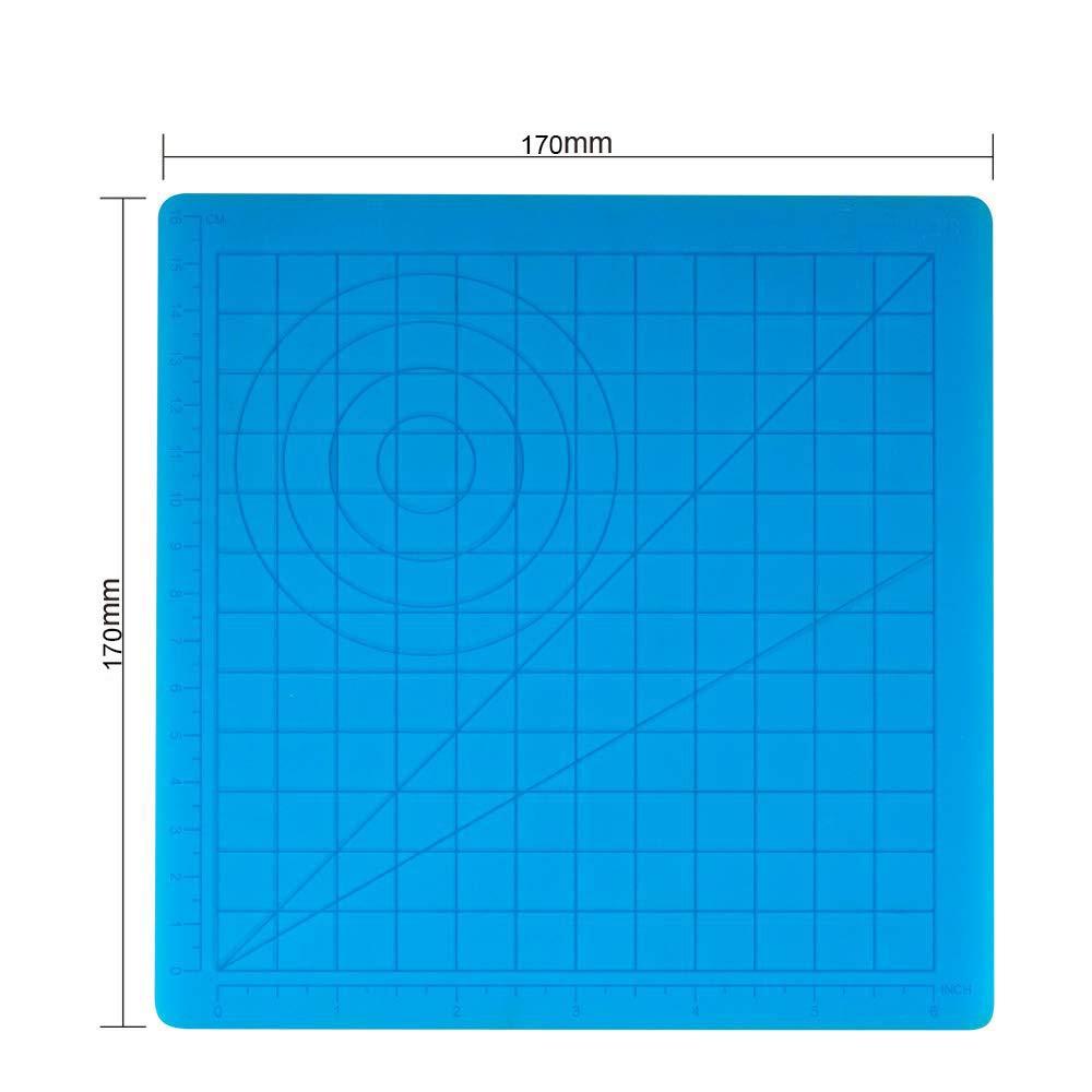 Stuoia del bordo del silicone della penna di stampa 3D con il modello di base Strumenti della tavola da disegno della penna 3D ad alta temperatura