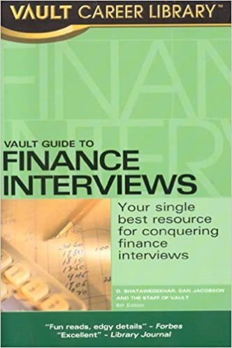 Vault guide to banking & finance vault career guide to.