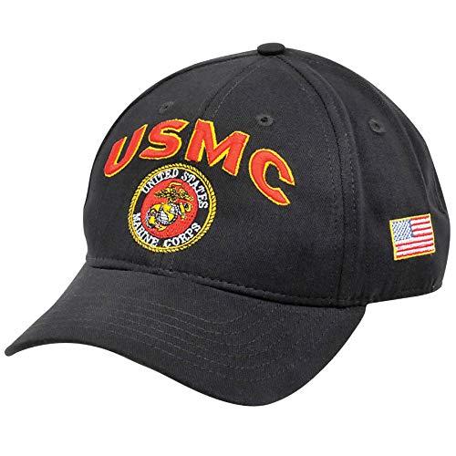 Medals of America USMC Emblem Hat USA Black One Size -