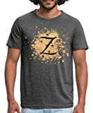 Spreadshirt Zorro The Hero's Trademark Letter Z Initial Men's Polycotton T-Shirt, M, Dark Grey Heather