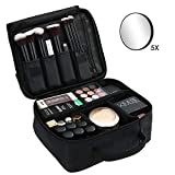 Esonmus Lightweight Cosmetic Bag Makeup Bag Portable Makeup Travel Bag Storage Bag with Padded Handle Travel Makeup Cosmetic Bag Multifunctional Bag for Traveling and Business Trip