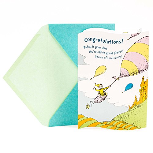 Hallmark Graduation Greeting Card (Dr. Seuss, You're Off and Away)