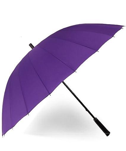 TAIDUJUEDINGYIQIE 24 Mango de Hueso Recto Paraguas Mango Largo Paraguas Derecho Anuncio de Negocios Paraguas Grande