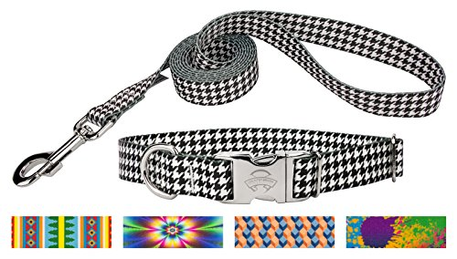 Country Brook Design Houndstooth Premium Dog Collar & Leash - Small (Houndstooth Leash)