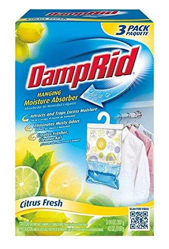 (DampRid FG83CF Citrus Fresh Hanging Moisture Absorber (3 Pack))