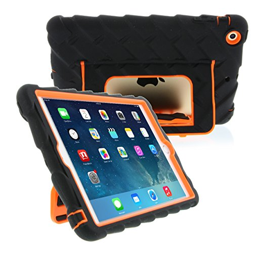 Apple iPad mini iPad mini Retina iPad mini 3 Hideaway with Stand Orange Gumdrop Cases Silicone Rugged Shock Absorbing Protective Dual Layer Cover Case