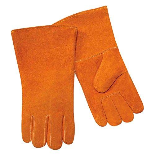 Steiner 02108 Economy Split Cowhide Stick Welding Gloves, Cotton Lined (Gloves Welding Economy)