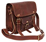 Right Choice 11'' Leather Shoulder Bag Women Purse Handbag Crossbody Handbag School Bag Ipad Messenger Bag Travel Purse 11X9X3 Brown