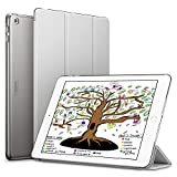 ESR iPad 9.7 2018 / 2017 Case, Lightweight Smart Case Trifold Stand with Auto Sleep/Wake Function, Microfiber Lining, Hard Back Cover for the Apple iPad 9.7-inch,Silver Gray
