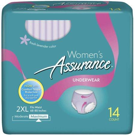 Assurance for Women Maximum Absorbency Protective Underwear, 2XL, 14 count - Maximum Protective Underwear