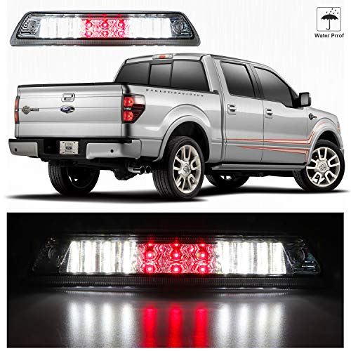 Scitoo fit 2009-2014 Ford F-150 High Mount Brake Light Smoke Lens LED Light LED 3rd Brake Light Cargo Light