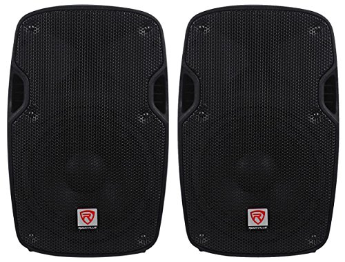 2) Rockville SPG84 8 Passive 800W DJ PA Speakers ABS Lightweight Cabinet 4 Ohm 200 Watt Powered 8' Bass
