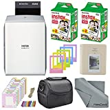 Fujifilm Instax SHARE Smartphone Printer SP-2 w(Silver)/ 40 Sheets Instax Mini Instant Film, Photo Album, Mini Photo Frames, Paper Photo Frame, Small Case. and FiberTique Cleaning Cloth