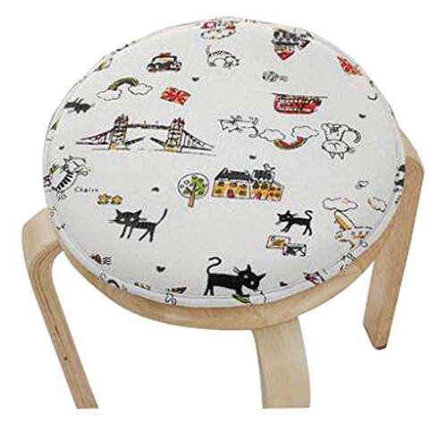 Lovely Round Stool Cushion Warm Sponge Pad Bar Stool Mat by Black Temptation