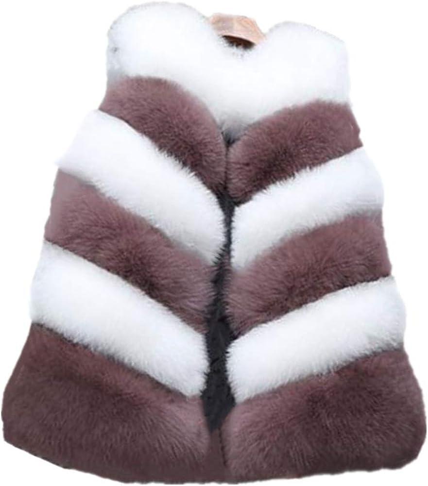 Women Long Artifical Fox Fur Vest Women Winter Fashion Faux Fur Vest Jacket Woman Thick Warm Fur Vest Coat