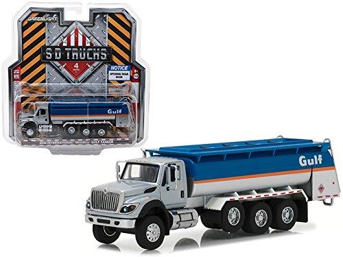 2018 International WorkStar Gulf Oil Tanker Truck S.D. Trucks Series 4 1/64 Diecast Model by GreenLight - Metal Tanker Oil